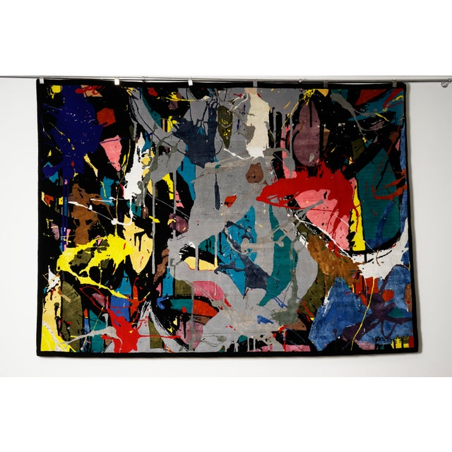 """Boccara Limited Edition Hand Knotted Artistic Rug, """"Street Art"""" For Sale - Image 6 of 7"""