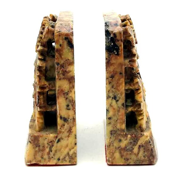 Vintage Art Deco Chinese Soapstone Bookends - Pair - Image 3 of 7