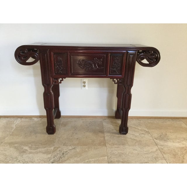 Solid Rosewood Console Table - Image 2 of 6