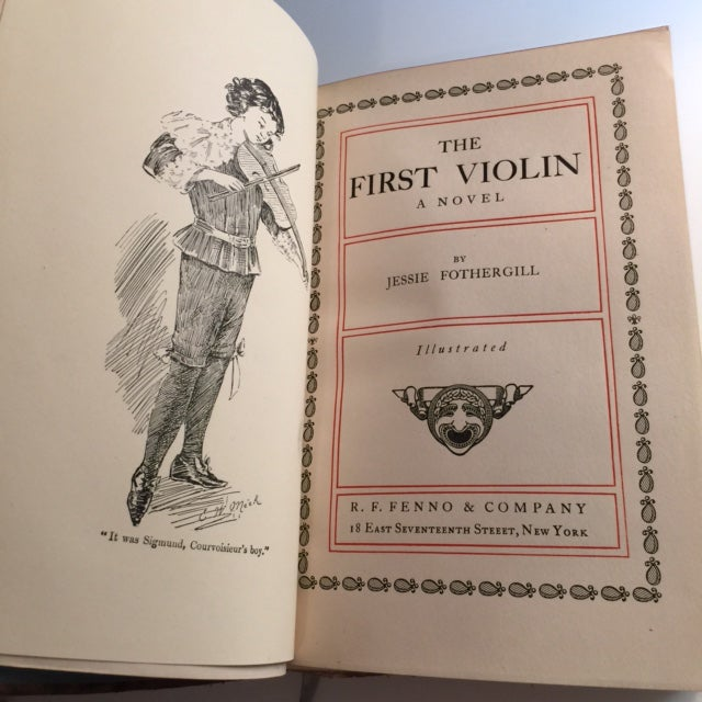 The First Violin Hardcover C. 1905 For Sale - Image 4 of 6