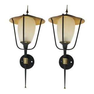 Vintage French maison Arlus Sconces. A Pair For Sale