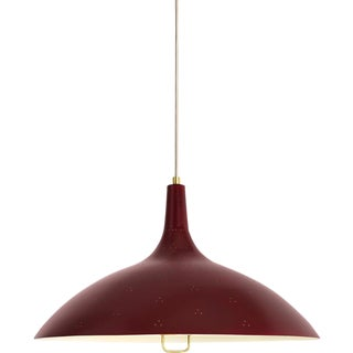 Paavo Tynell '1965' Pendant Lamp in Red For Sale