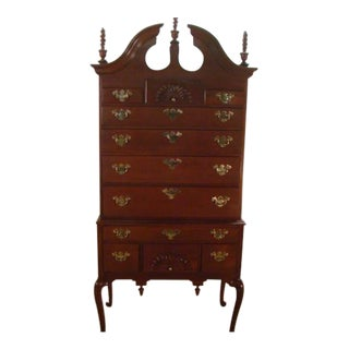 Councill Solid Mahogany Queen Anne Highboy For Sale