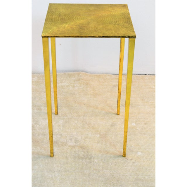 Bungalow 5 Modern Bungalow 5 Eugene Polished Brass Side Table For Sale - Image 4 of 5