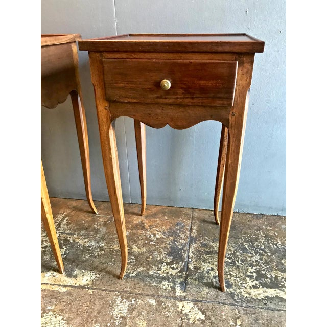 19th Century Vintage French Louis XV-Style Walnut Stands- A Pair For Sale In Los Angeles - Image 6 of 9