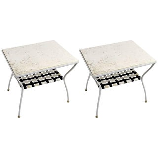 Brown Jordan Side Tables-a Pair For Sale