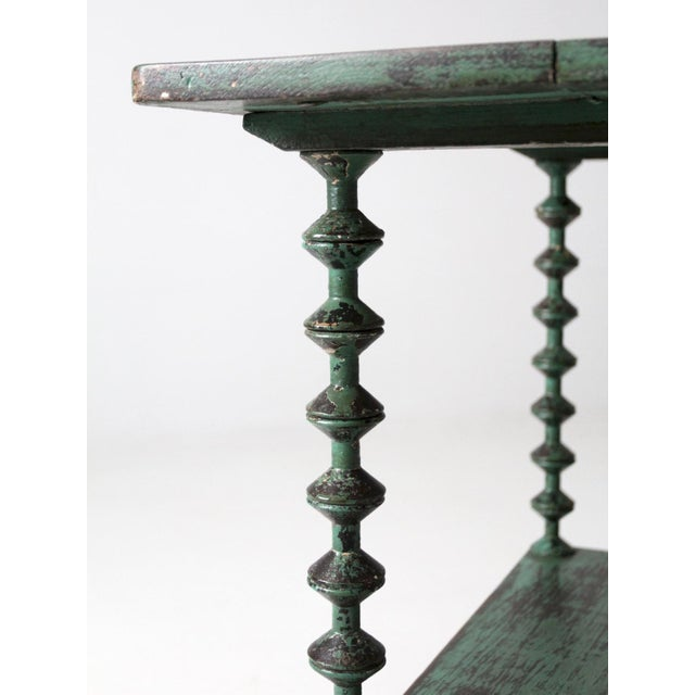 Antique Folk Art Spool Table For Sale - Image 6 of 9