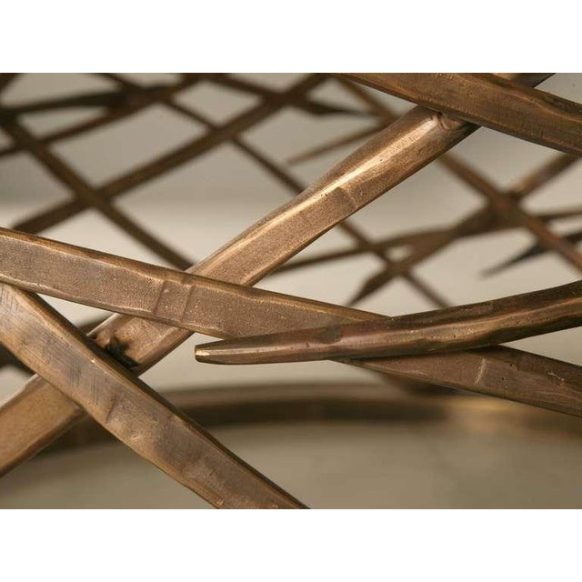 Custom-Made Woven Solid Bronze Table Base For Sale - Image 9 of 11