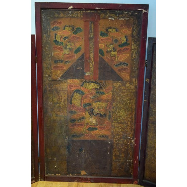 Asian Motif Folding Screen For Sale - Image 11 of 13