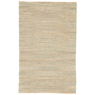 Jaipur Living Reap Natural Chevron Tan/ Green Area Rug - 8′ × 10′ For Sale