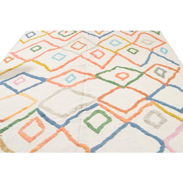 Modern Moroccan Style Wool Rug 9 X 13 For Sale - Image 10 of 13