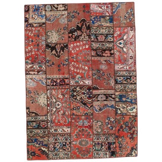 Pasargad N Y Persian Patch-Work Decorative Hand-Knotted Area Rug- 5'x7' For Sale