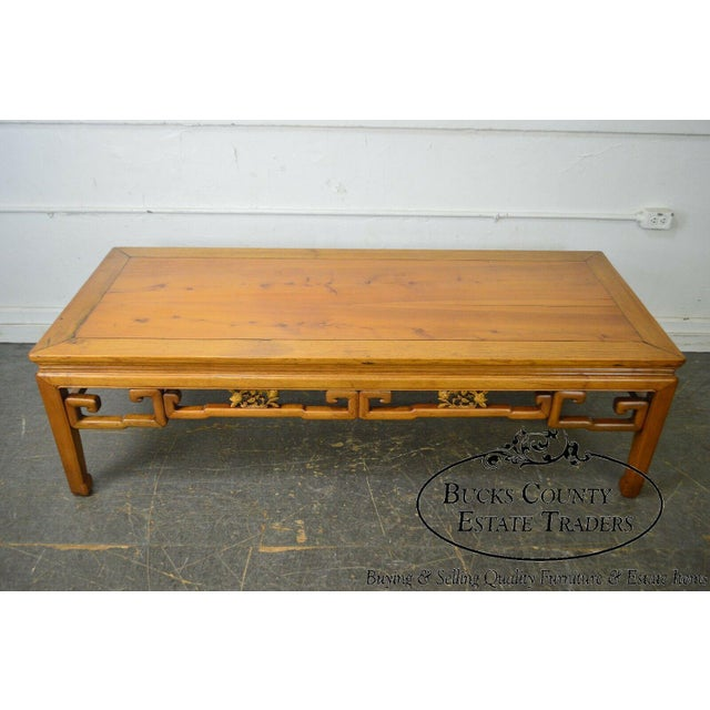 Antique Chinese Ming Style Large Hardwood Coffee Table For Sale - Image 10 of 13