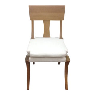 Modern Klismos Chair With Upholstered Seat For Sale