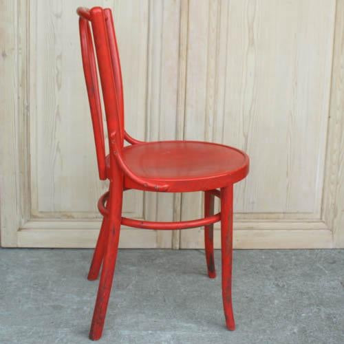 Red French Bentwood Dining Chair - Image 3 of 7