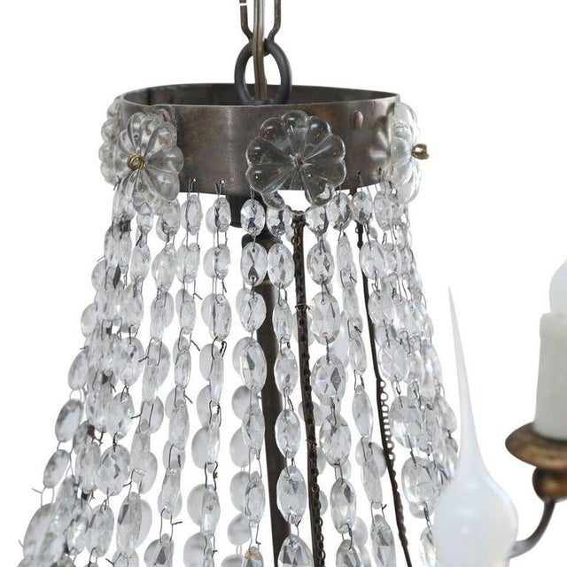 Petite Italian Crystal Chandelier For Sale - Image 9 of 10