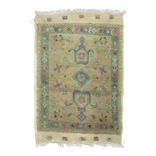 Baby Size Vintage Turkish Rug, 20'' X 29'' For Sale