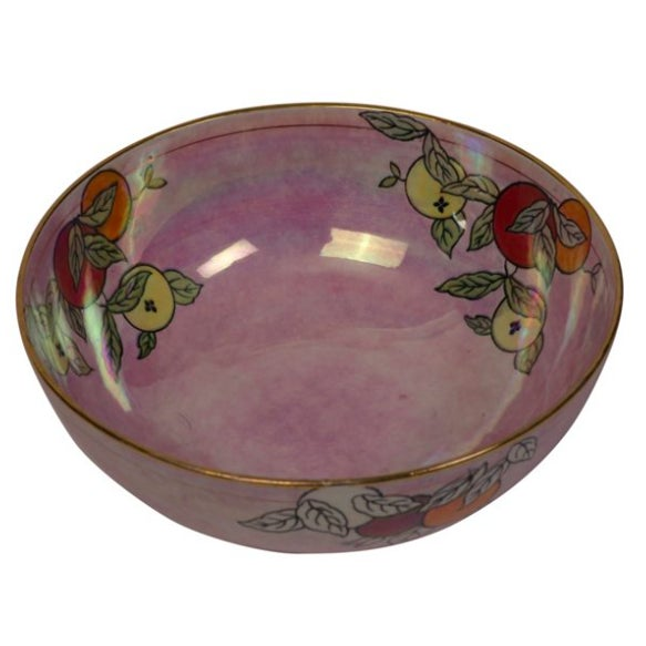 English Lusterware Chinoiserie Bowl For Sale