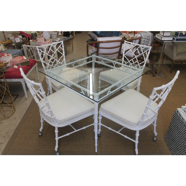 White Iron Patio Set - Image 2 of 4