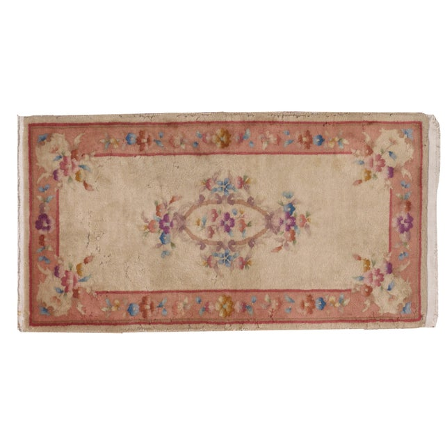 1930s Antique Art Deco Chinese Rug - 2′ × 3′10″ For Sale In New York - Image 6 of 7
