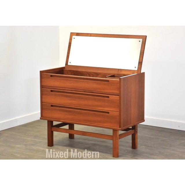 Nils Jonsson Teak Vanity Dresser For Sale - Image 11 of 11