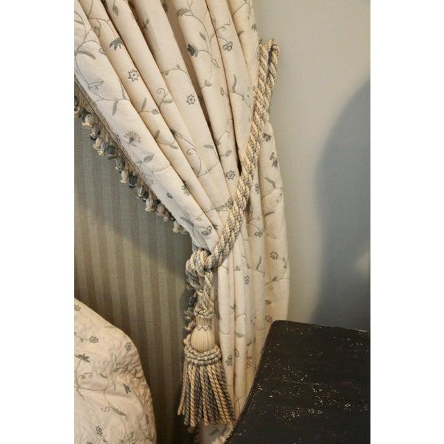 Italian Giltwood Bed Corona W/ Draperies For Sale - Image 9 of 12