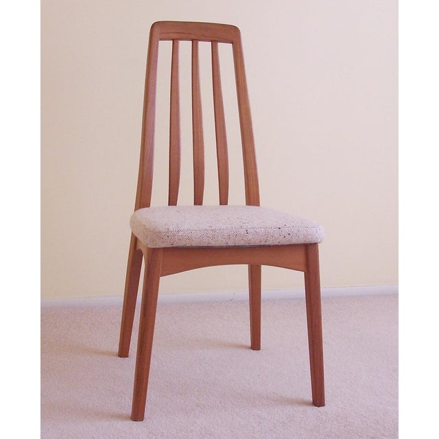 Teak Wood Benny Linden Design Dining Chairs A Pair Chairish