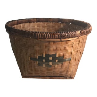 20th Century Chinese Woven Basket For Sale