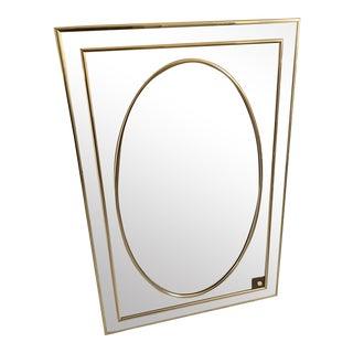 1980s Sharon Art Concept Postmodern Gold Chrome Mirror For Sale