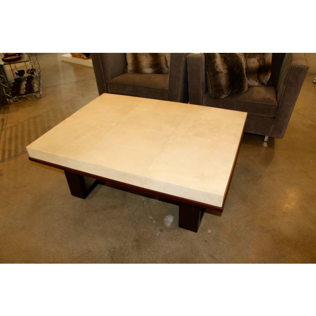Beautiful Parchment Top Table by Christopher Kennedy For Sale In Palm Springs - Image 6 of 10