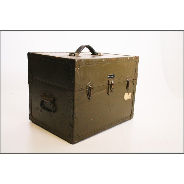 Vintage Industrial Green Military Hard Case - Image 5 of 11