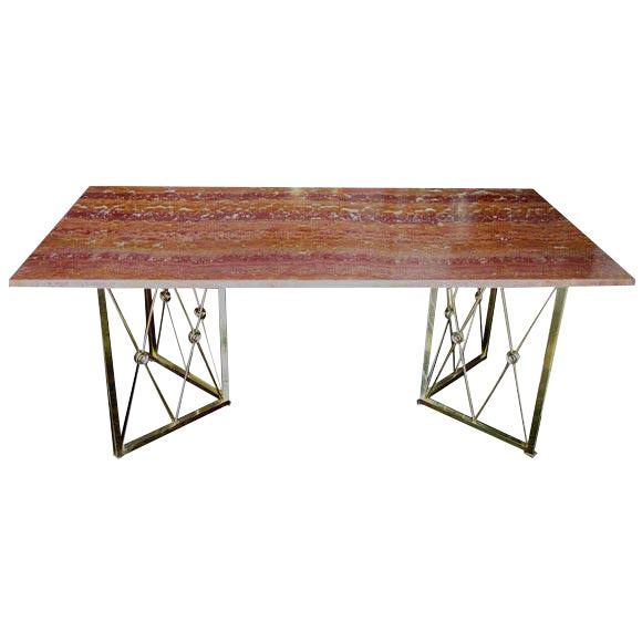 1950s Italian Onyx Desk For Sale
