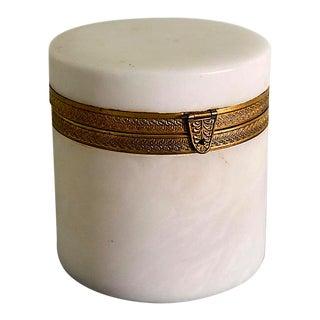 Alabaster Ormolu Dresser Box - Italian
