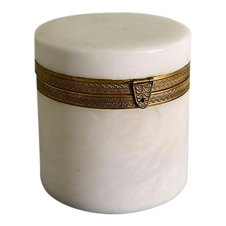 Italian Alabaster Ormolu Dresser Cache