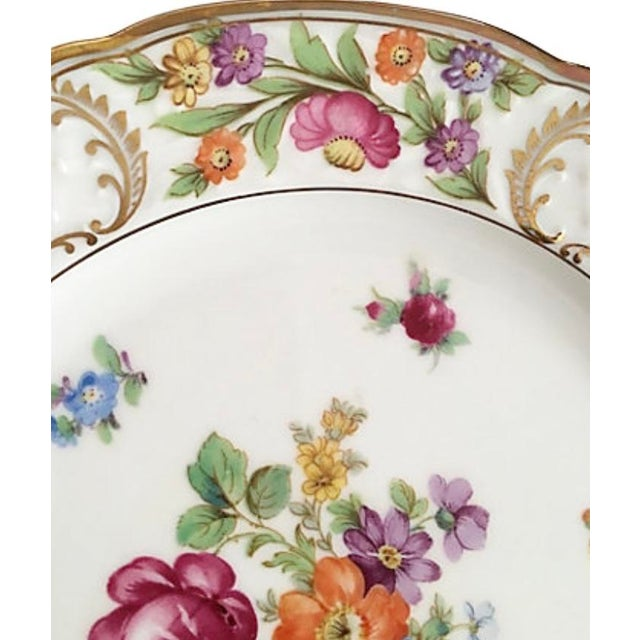 Traditional Vintage Schumann Empress Luncheon Plates - Set of 9 For Sale - Image 3 of 5