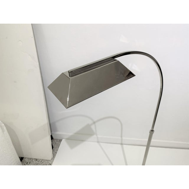 Casella Floor Lamp Nickel Plated For Sale - Image 10 of 12