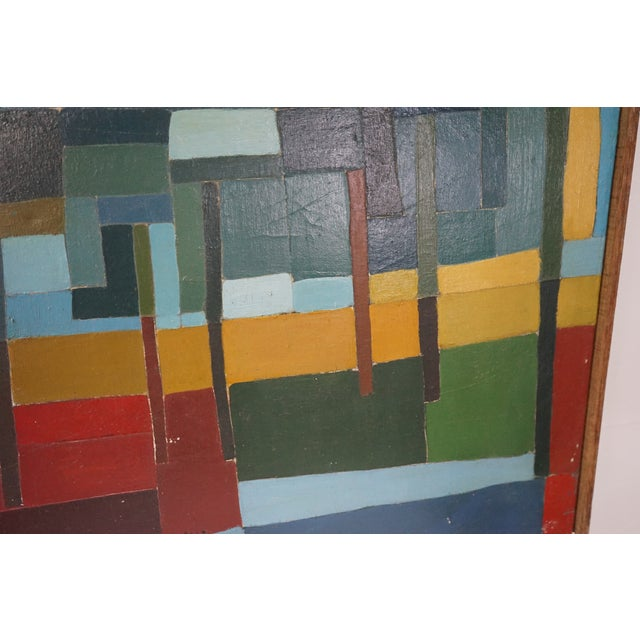 Mid-Century Abstract Painting For Sale In Nashville - Image 6 of 7