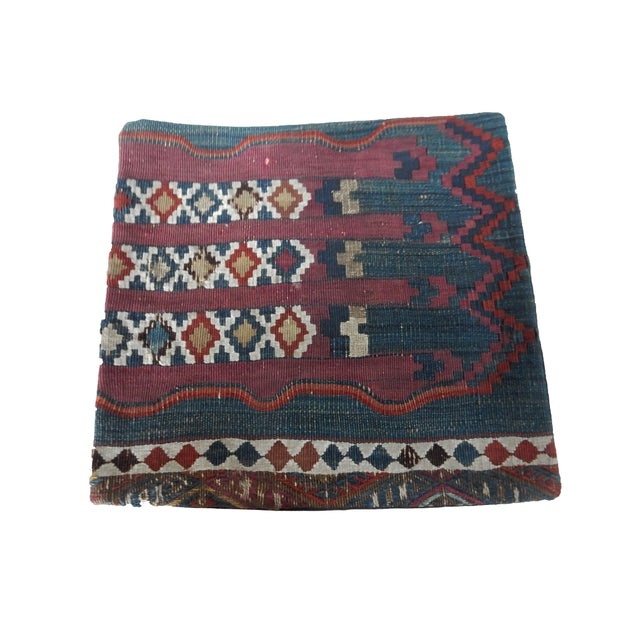 Antique Tribal Kilim Pillow Cover - Image 3 of 6