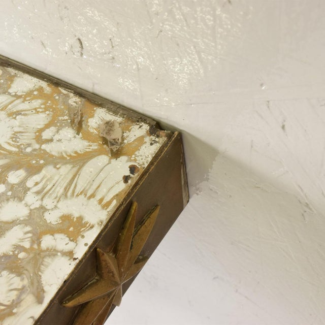 Gold Arturo Pani Mid-Century Mexican Modernist Star Brass Wall Console Table For Sale - Image 8 of 10