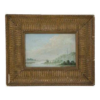 Early 20th Century Antique Signed Oil on Board Painting For Sale