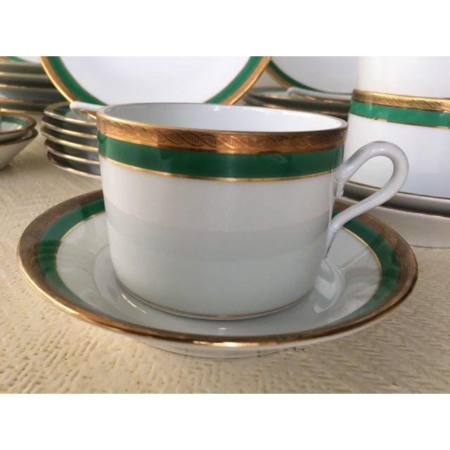 Richard Ginori Vintage Richard Ginori Palermo Green 6-Place Dinnerware Set For Sale - Image 4 of 10