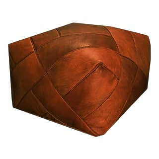 ZigZag, Mpw Plaza Moroccan Pouf, Rustic Brown, Ottoman, Pouf, (Stuffed) For Sale