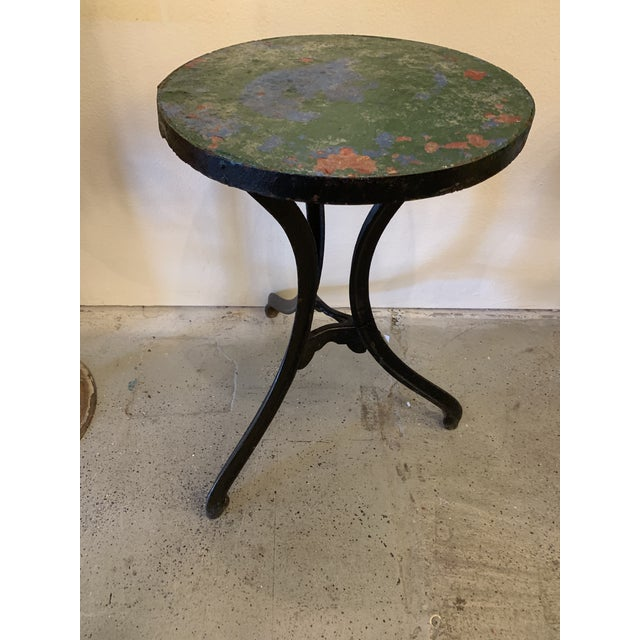 Metal 1940s French Circular Cast Iron Cafe Table For Sale - Image 7 of 7