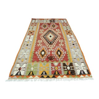 Anatolian Turkish Kilim Rug-5′5″ × 8′9″ For Sale