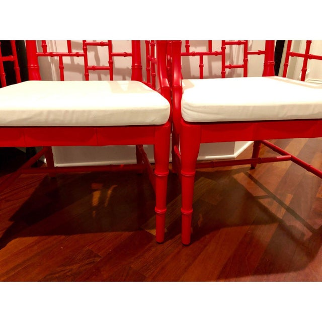 Modern Chinese Chippendale Arm Chairs- a Pair For Sale - Image 10 of 12