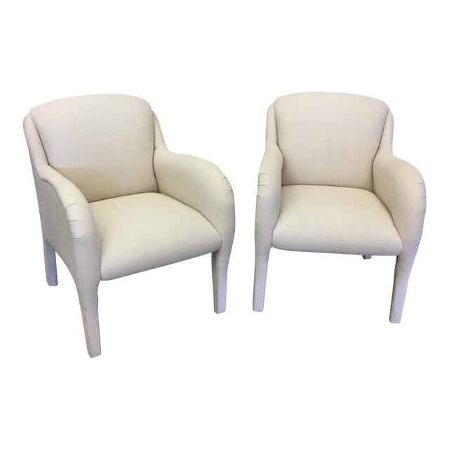 Contemporary Modernist Arm Chairs - a Pair For Sale
