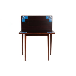Danish Modern Illums Bolighus Rosewood and Blue Tile Folding Table Preview