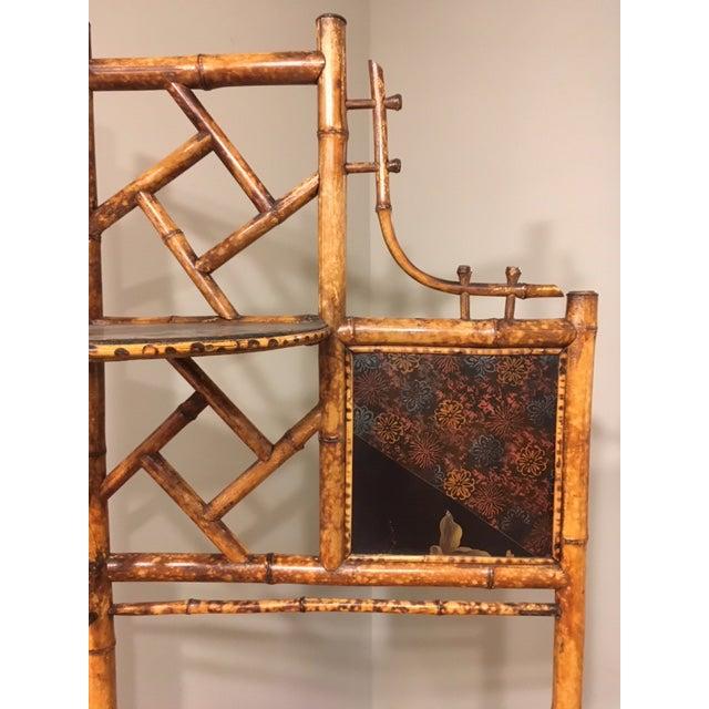 Wood Bamboo Corner Shelf For Sale - Image 7 of 8