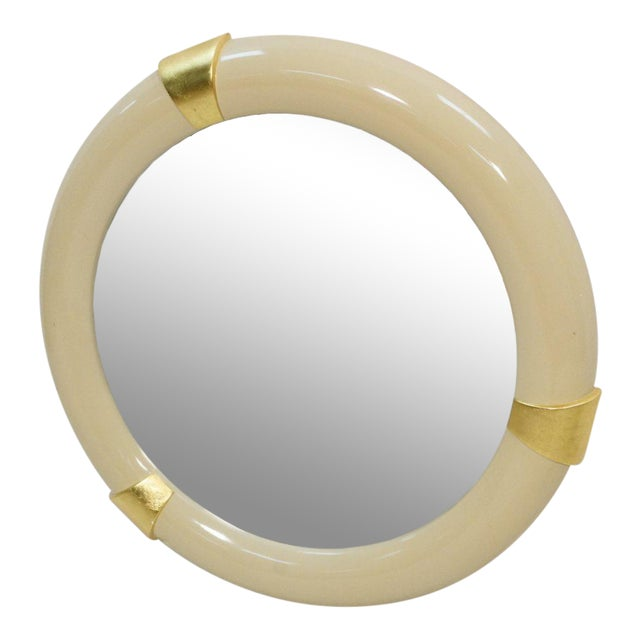 1970s Karl Springer Style Lacquered Mirror - Image 1 of 4