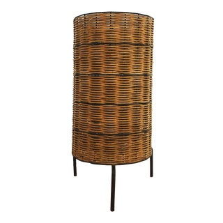 1950s Vintage Mid Century Paul Mayen Wicker Lamp For Sale